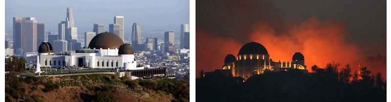 Griffith Park on Fire